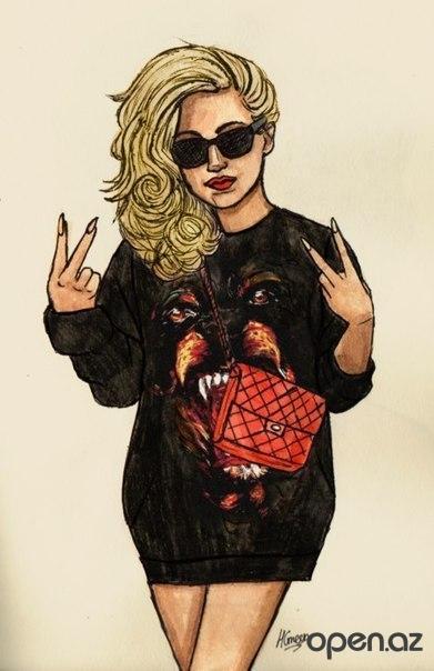 фото нарисованных девушек в стиле swag