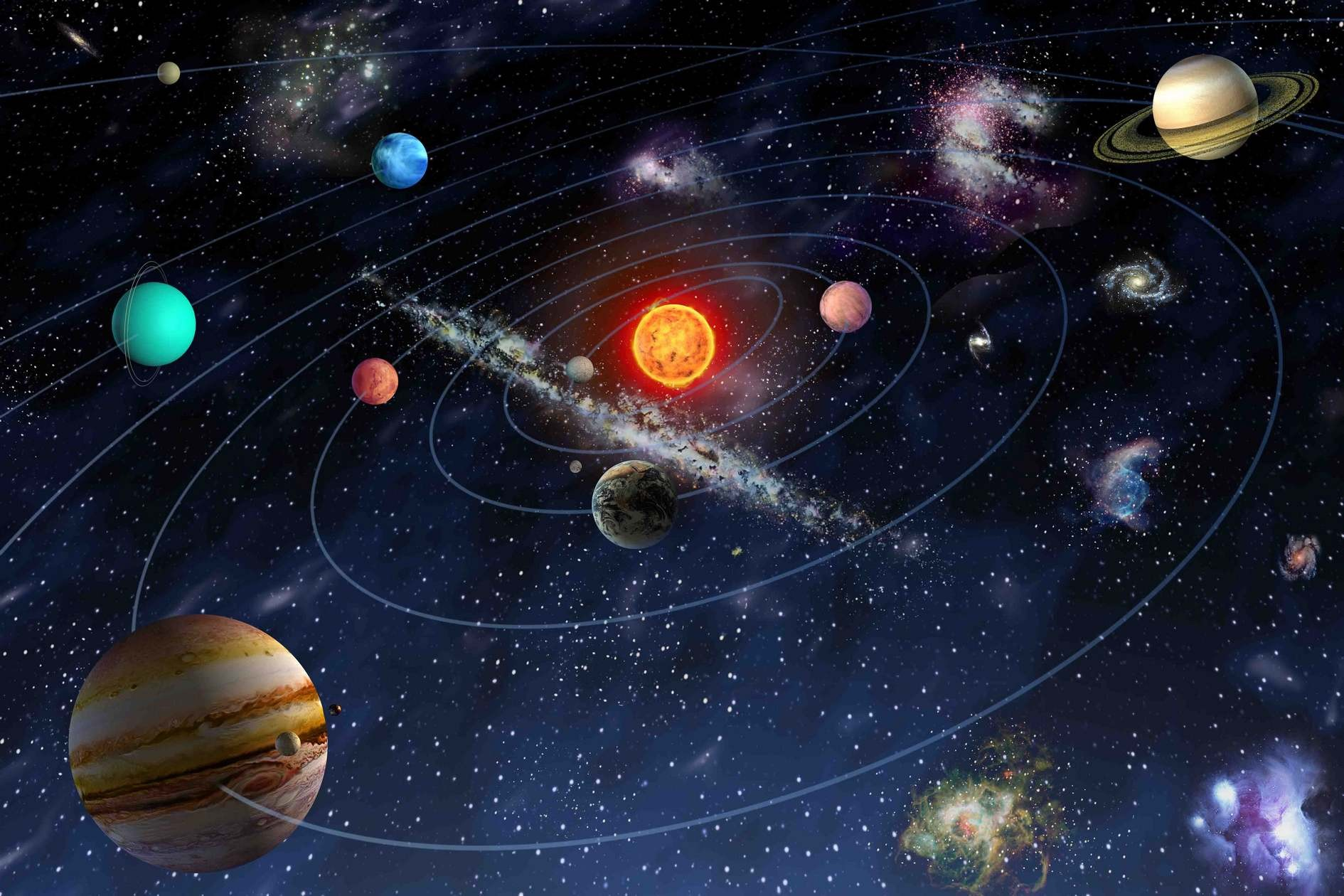 легко красивые картинки парад планет идея