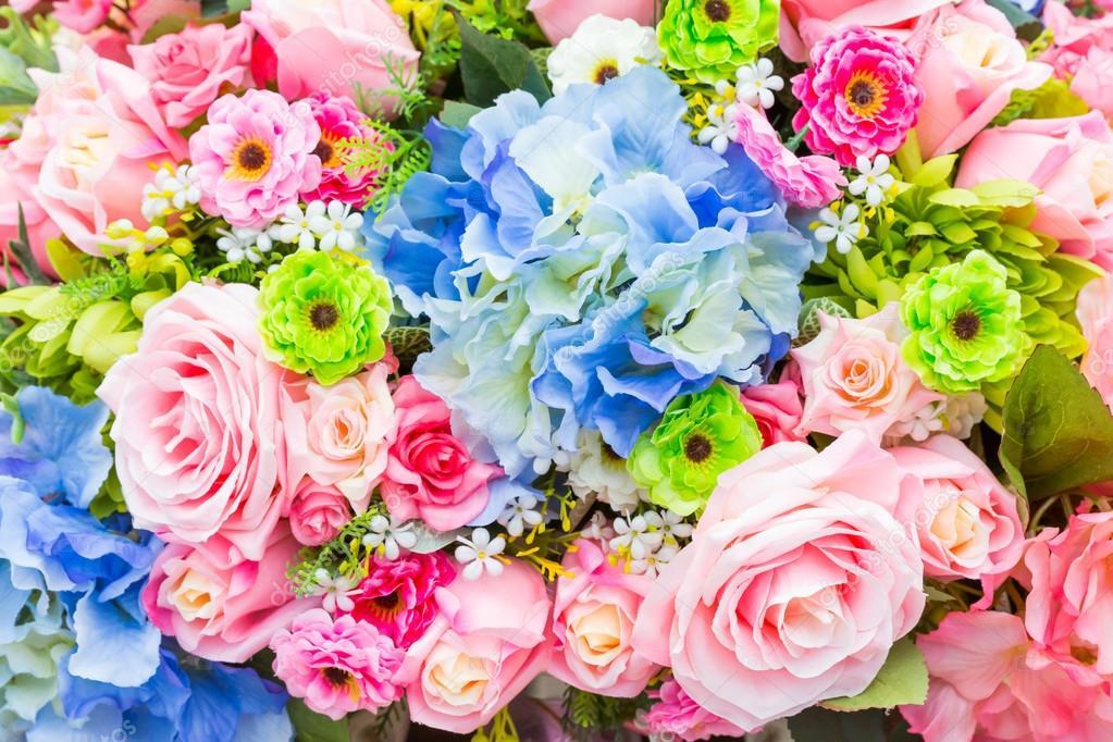Картинка с днем рождения много цветов