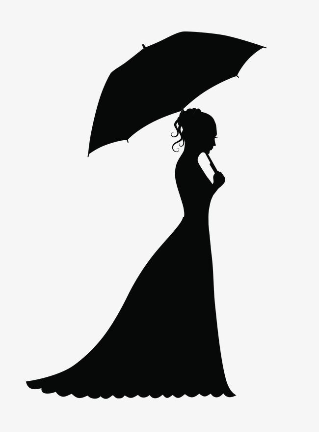 День, девушка с зонтом картинки черно