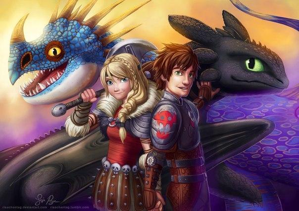Картинка для Подборка артов «как приручить дракона»