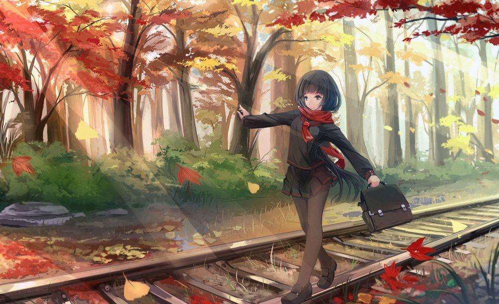 Картинка для твоя аниме внешность осенью !