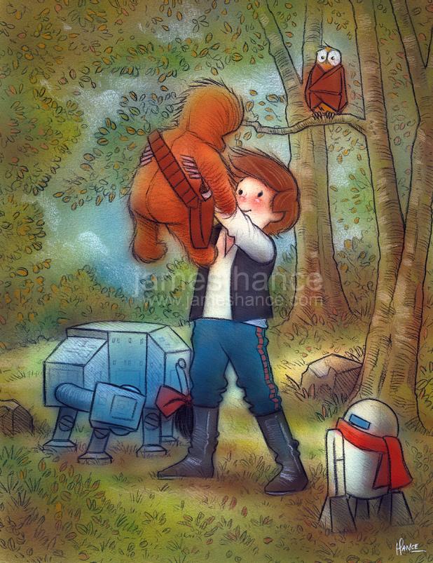 Картинка для Хан Соло и Чуи «а ля Винни-Пух»