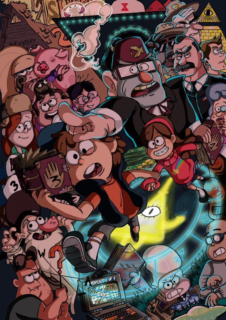 Гравити фолз фото всех героев картинки отдельные