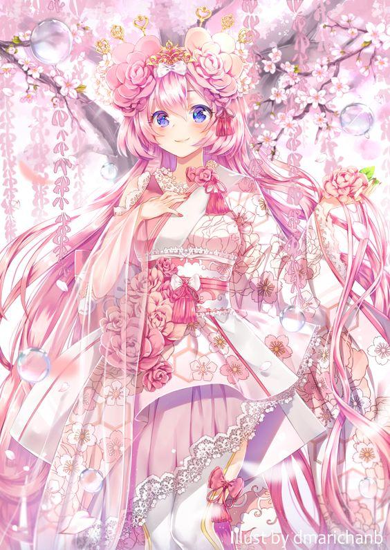 Картинка для Персонажи розового цвета.