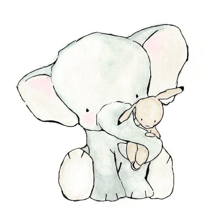 особенно картинка милого слона рубцы, растяжки