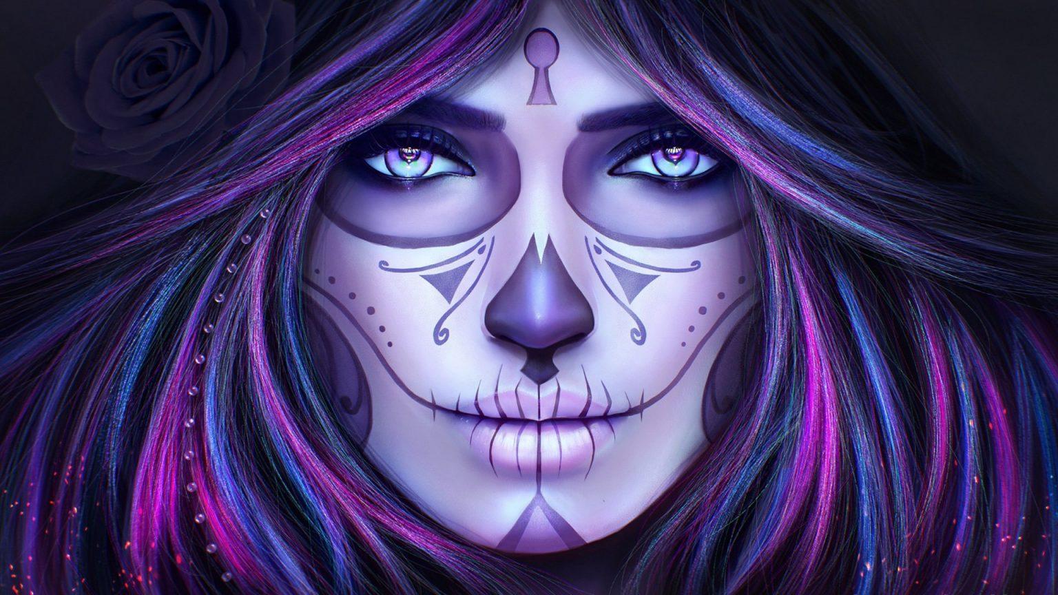 стиле картинки с фиолетовыми рисунками получили