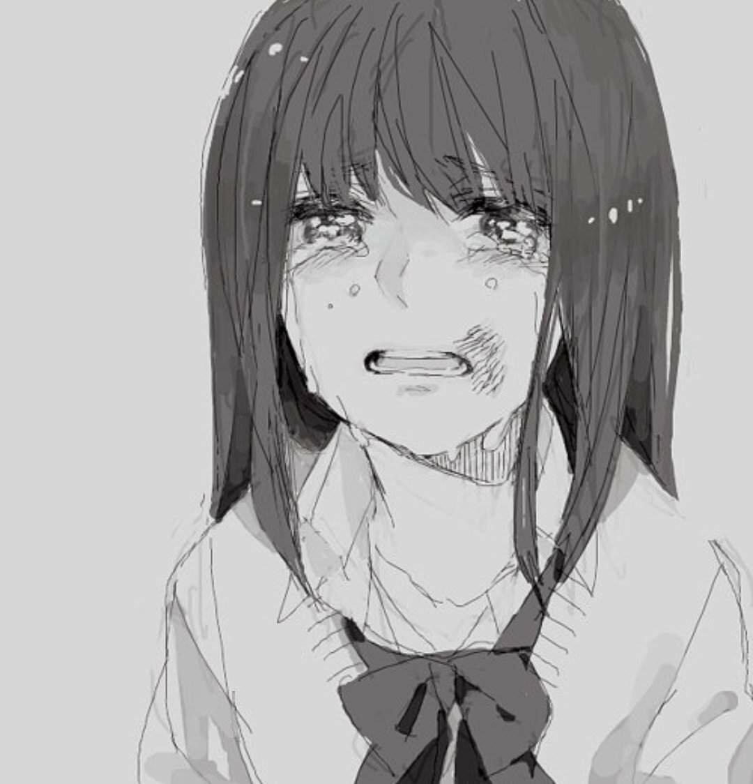 Картинки аниме девочки плачущей