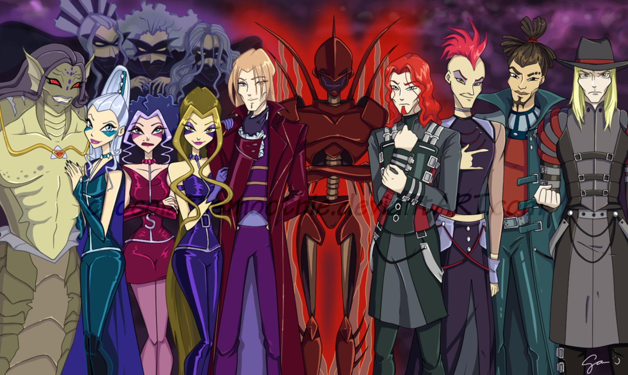 Фото всех злодеев из винкс