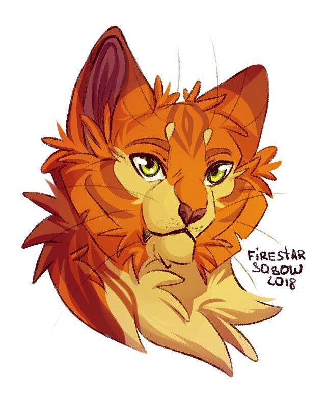 Картинки коты воители огнезвезд для срисовки
