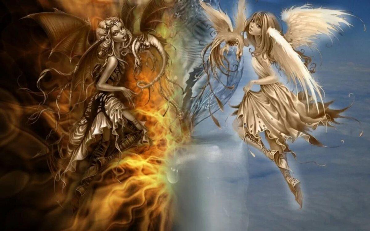 Картинка для Ты становишься ангелом. Или демоном?