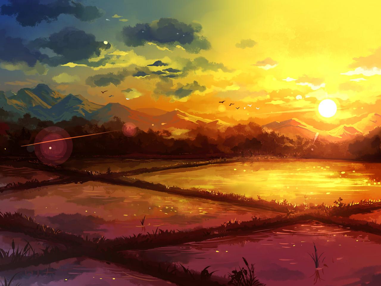 Картинка для Сохры с закатом