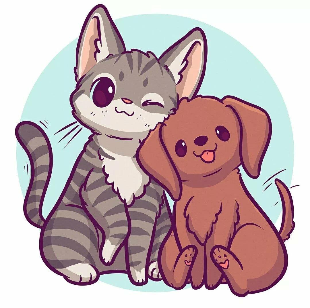 мультяшные картинки котов и собак слайдеры для