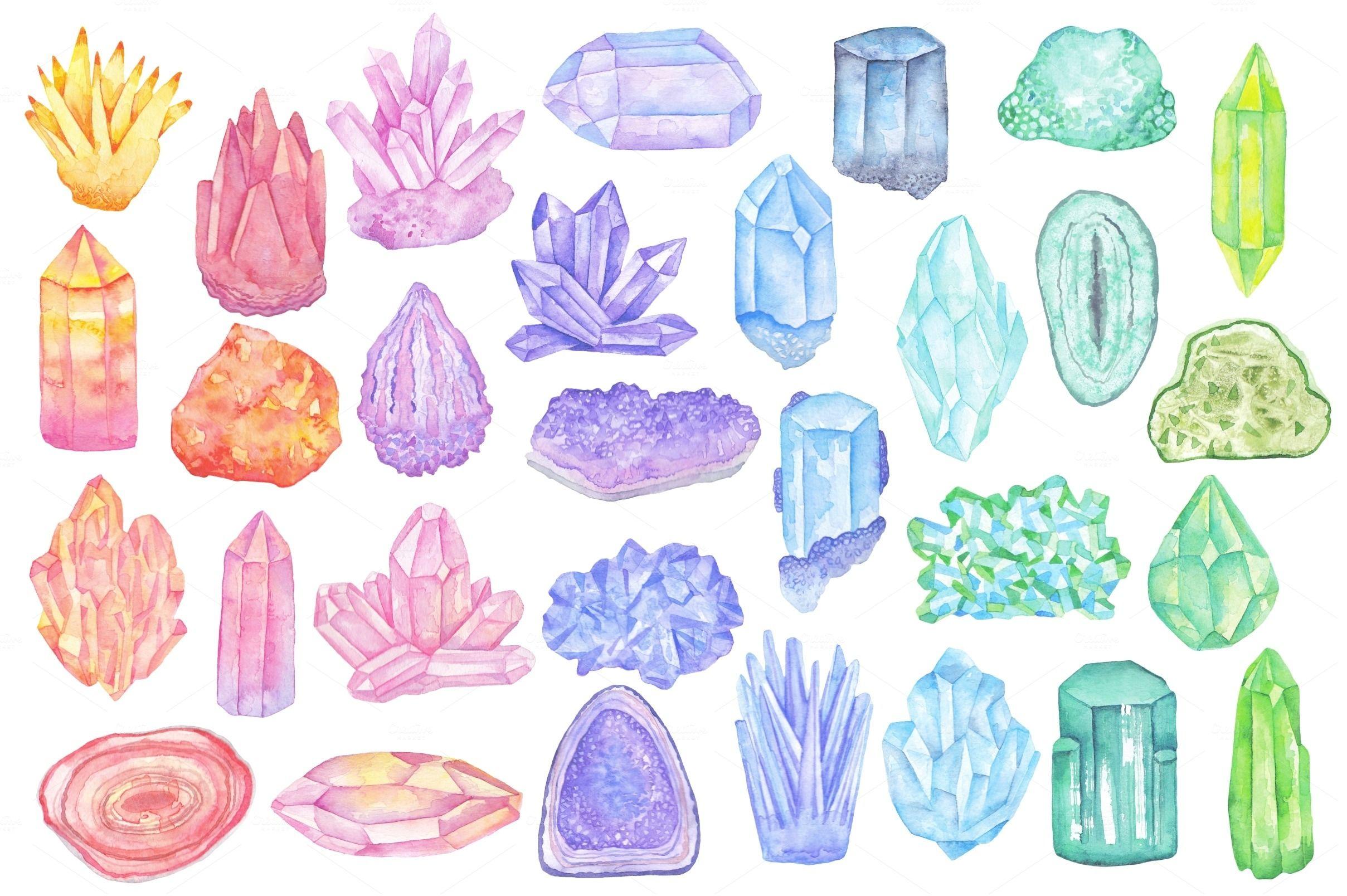 разнообразие картинки срисовать кристаллы вылета