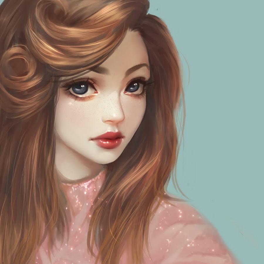 Картинки мультяшная девушка