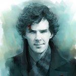 Рисунок профиля (Sherlie Holmes)