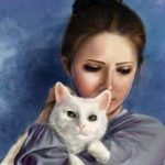 Рисунок профиля (Девочка с кошкой)