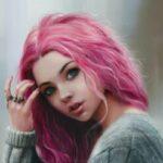 Рисунок профиля (Розоволосая в своих мечтах)