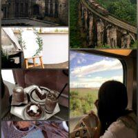 Поезд, замок и пейзаж...