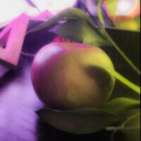 Наше яблочко из сада на эстетичной фотосессии🍎✨